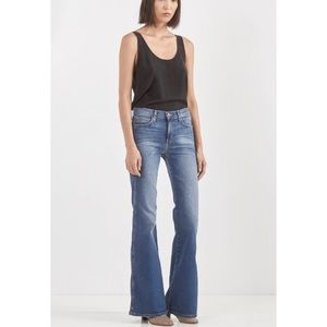Current/Elliot High Waist Flare Jeans Stretch